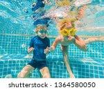 kids having fun playing... | Shutterstock . vector #1364580050