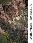 rock climbers at sandstone peak ... | Shutterstock . vector #1364581679
