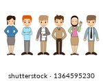 group of working people... | Shutterstock .eps vector #1364595230