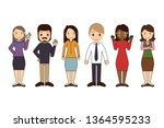 group of working people... | Shutterstock .eps vector #1364595233