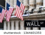 Wall Street Sign With New York...