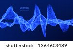 sound wave. music background.... | Shutterstock .eps vector #1364603489