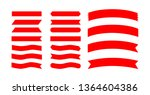 set red ribbons banners flat... | Shutterstock .eps vector #1364604386