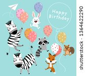 happy birthday greeting card... | Shutterstock .eps vector #1364622290