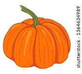 vector single cartoon orange...   Shutterstock .eps vector #1364634989