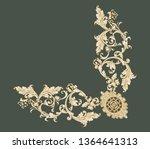 golden elements in baroque ... | Shutterstock . vector #1364641313