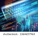 programming code abstract... | Shutterstock . vector #1364657963