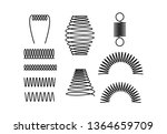 spiral springs different shapes ... | Shutterstock .eps vector #1364659709