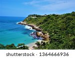 carrizalillo bay in oaxaca ... | Shutterstock . vector #1364666936