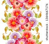 flower print. elegance seamless ... | Shutterstock . vector #1364667176