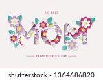 happy mothers day background... | Shutterstock .eps vector #1364686820