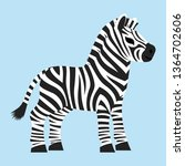 cute baby zebra animal cartoon...   Shutterstock .eps vector #1364702606