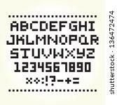 pixel font isolated vector set   Shutterstock .eps vector #136472474