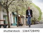 businessman on daily commute... | Shutterstock . vector #1364728490