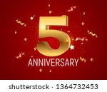 template logo 5 years... | Shutterstock . vector #1364732453