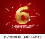 template logo 6 years... | Shutterstock . vector #1364732459