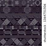 tribal black and white... | Shutterstock .eps vector #1364751506