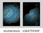 minimal banner templates with... | Shutterstock .eps vector #1364755349