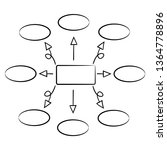 hand drawn diagram template ... | Shutterstock .eps vector #1364778896