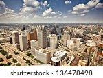 downtown detroit | Shutterstock . vector #136478498