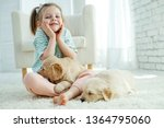 child with a dog  | Shutterstock . vector #1364795060
