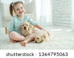 child with a dog  | Shutterstock . vector #1364795063