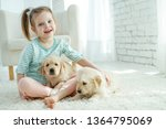 child with a dog  | Shutterstock . vector #1364795069
