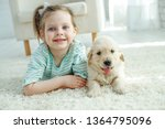 child with a dog  | Shutterstock . vector #1364795096