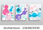 stock vector covers templates... | Shutterstock .eps vector #1364823530