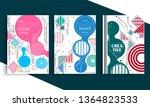 stock vector covers templates... | Shutterstock .eps vector #1364823533