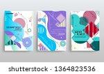 stock vector covers templates... | Shutterstock .eps vector #1364823536