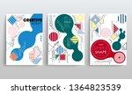 stock vector covers templates... | Shutterstock .eps vector #1364823539
