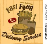 fastfood poster | Shutterstock .eps vector #136482440
