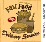 fastfood poster | Shutterstock .eps vector #136482440