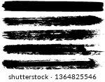 set of strokes of black paint... | Shutterstock .eps vector #1364825546