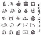 economic basic icons   Shutterstock .eps vector #136483370
