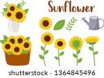 the pack of sunflower part... | Shutterstock .eps vector #1364845496