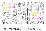 hello summer vector hand drawn... | Shutterstock .eps vector #1364857196