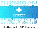 pharmacy and medical banner... | Shutterstock .eps vector #1364860556