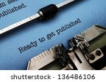 ready to get published | Shutterstock . vector #136486106