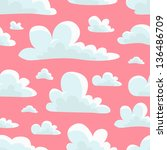 cloud pattern | Shutterstock .eps vector #136486709