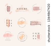 floral brand and logo designs... | Shutterstock .eps vector #1364867420