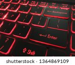 close up of laptop gaming... | Shutterstock . vector #1364869109