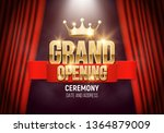 grand opening. banner with gold ... | Shutterstock .eps vector #1364879009
