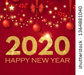 happy new 2020 year  realistic... | Shutterstock .eps vector #1364881040