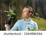 woman gardener watching her... | Shutterstock . vector #1364886566