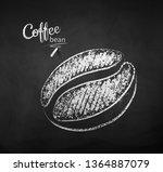 black and white vector chalk...   Shutterstock .eps vector #1364887079