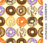 different glazed donuts... | Shutterstock .eps vector #1364888969