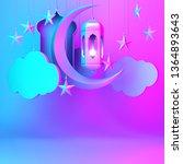 arabic lantern cloud  crescent... | Shutterstock . vector #1364893643