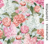 spring flowers. white and pink... | Shutterstock .eps vector #1364909036